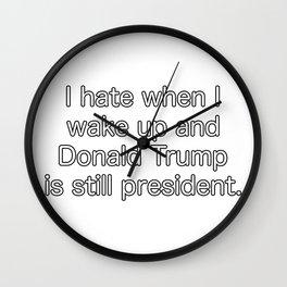 Still Donald Trump. Wall Clock