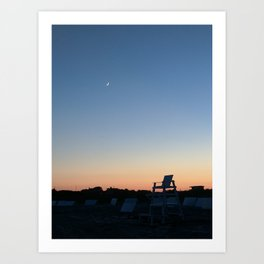 Goodnight Beach Art Print