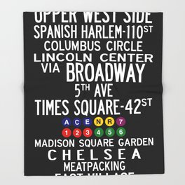 NYC Salsa Throw Blanket