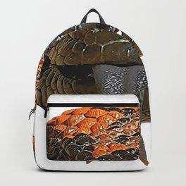 Gila Monster Venomous Lizard Reptile Sneaky Agent Orange Dots Backpack