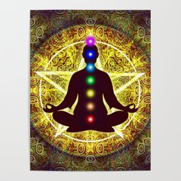In Meditation With Chakras - Spiritual I Poster
