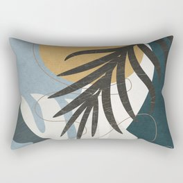 Abstract Tropical Art II Rectangular Pillow