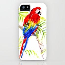 Scarlet Macaw, tropical bird, jungle iPhone Case