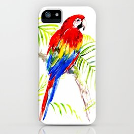 Scarlet Macaw, tropical bird, jungle iPhone Case