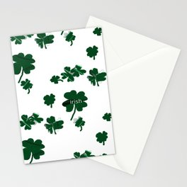 Luck of the Irish Four Leaf Clover Stationery Cards