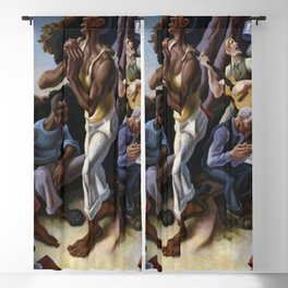 Classical Masterpiece 'Arts of the South' by Thomas Hart Benton Blackout Curtain