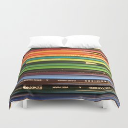 Colored Pencil Paradise Duvet Cover