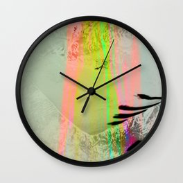 Abstract landscape sweep neon Wall Clock