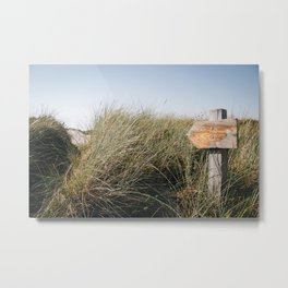Photo of the route to the beach in the dunes in Schoorl | Near the sea in Holland/The Netherlands  | Fine Art Colorful Travel Photography | Metal Print