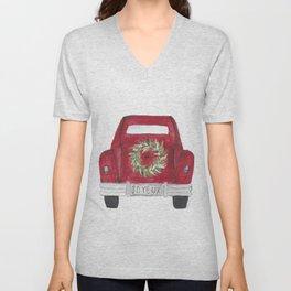 Joyeux Red Car Unisex V-Neck