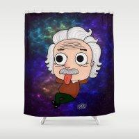 einstein Shower Curtains featuring Einstein by kaylieghkartoons