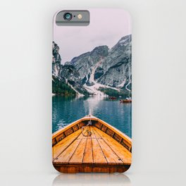 Canoe Mountains (Color) iPhone Case