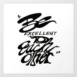 Bill & Ted Art Print