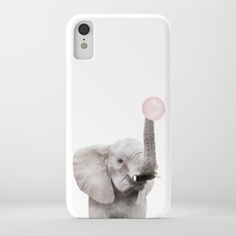Bubble Gum Baby Elephant iPhone Case