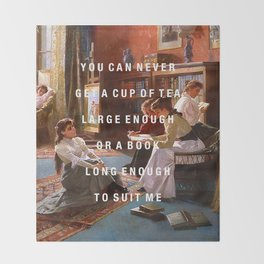 a book long enough Throw Blanket