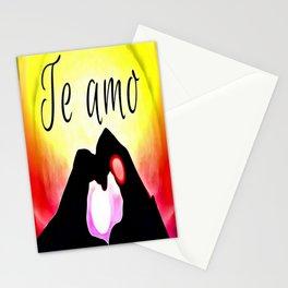 Te amo in Pop-art Stationery Cards