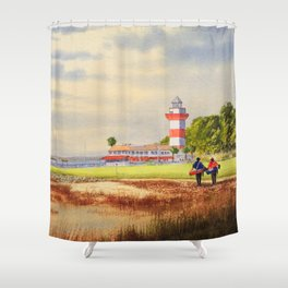 Harbor Town Golf Course 18th Hole South Carolina Shower Curtain