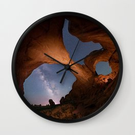 Double Arch in Arches National Park 2 Wall Clock