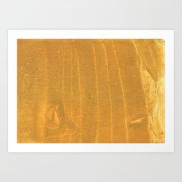 Dark yellow blurred watercolor pattern Art Print