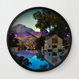 Evening Shadows by Maxfield Parrish Wall Clock