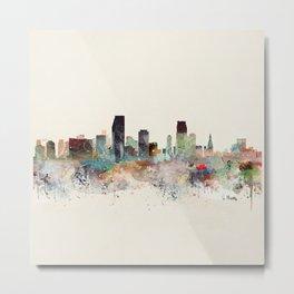 miami florida skyline Metal Print