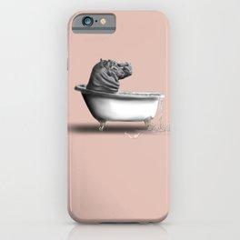Hippo in Bath iPhone Case