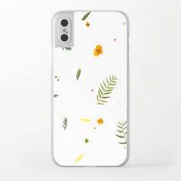 Foraged Florals Clear iPhone Case