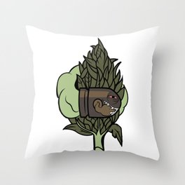 Nasty Boo Throw Pillow