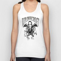 lovecraft Tank Tops featuring H.P. LOVECRAFT by Bili Kribbs