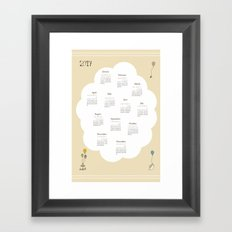 Tea Time - 2017 Calendar Framed Art Print