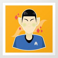 spock Art Prints featuring spock by monsternist