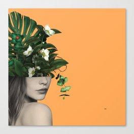 Lady Flowers Vlll Canvas Print