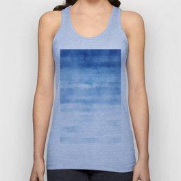 Blue Waves Watercolor Unisex Tank Top