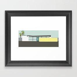 Mid Century Modern House 10: Palm Springs Architecture: Desert Style: Vintage Design Framed Art Print