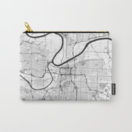 Kansas City Map Gray Carry-All Pouch