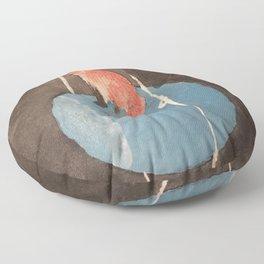 Fox and Uranus Floor Pillow