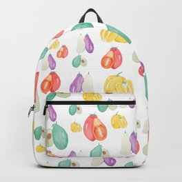 colorful veggie party Backpack