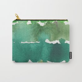 Watercolor Unlock: Green Carry-All Pouch