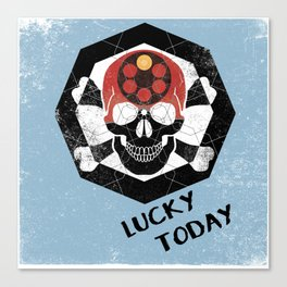 lucky today russian roulette Canvas Print