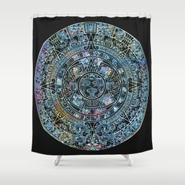 Mayan Calendar Froot Loops Shower Curtain
