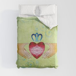 Colorful Inspirational Art - Friendship - Sharon Cummings Comforters
