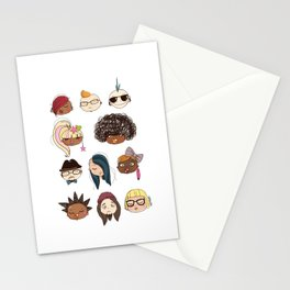 nyc subway people Stationery Cards