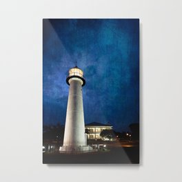 Lighthouse Blues Metal Print