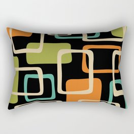 Mid Century Modern Abstract Squares Pattern 420 Rectangular Pillow