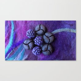 Purple fantasy flower Canvas Print