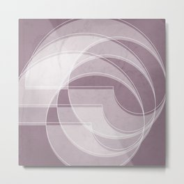 Spacial Orbiting Spiral in Musk Mauve Metal Print