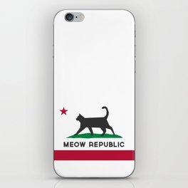 Meow Republic - Flag of Catifornia iPhone Skin