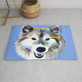 A Wolf Hybrid Rug