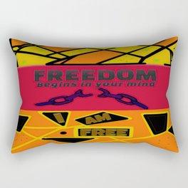 Free Mind Rectangular Pillow