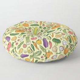 Veggie Friends Doodle Floor Pillow